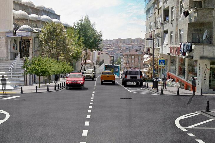 Sultangazi'de Cadde ve Sokaklara Estetik Görünüm Kazandırılıyor