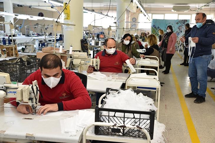 Bizimköy Engelliler Merkezinde Maske Üretimi Başladı