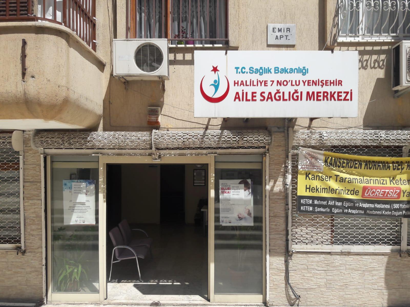 Haliliye 7 No'lu Yenişehir Aile Sağlığı Merkezi Binası Dış Görünüşü