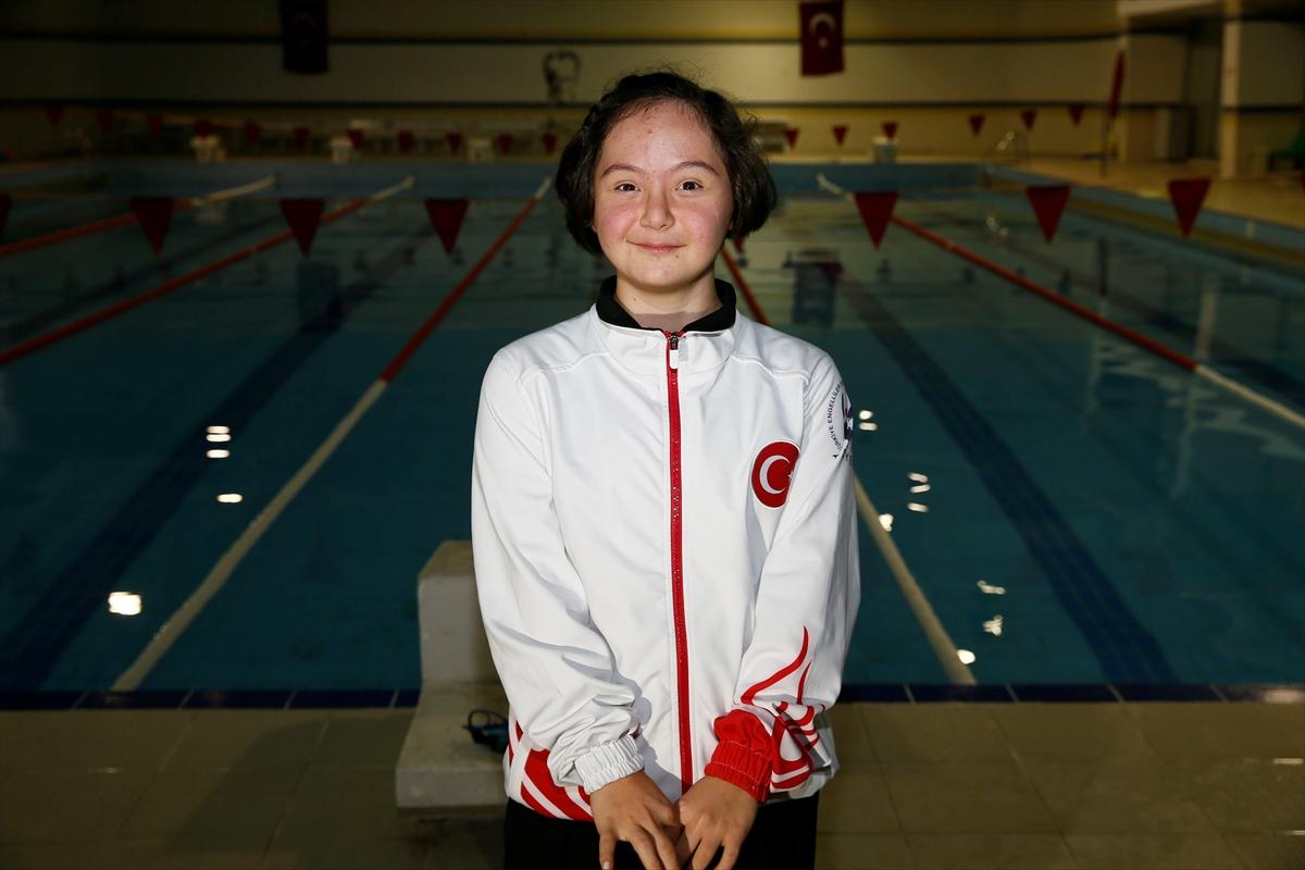 Down Sendromlu Milli Yüzücü İrem Öztekin Şampiyon Yetiştirecek