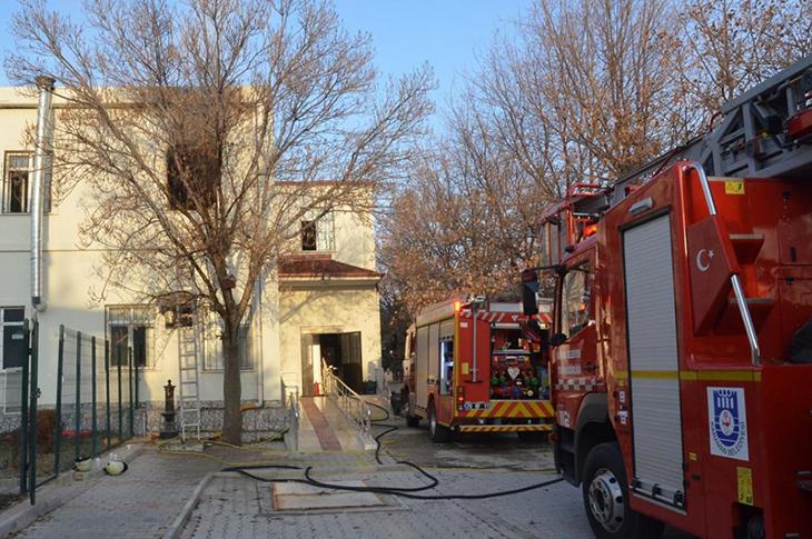 Karaman'da Engelli Bakım Merkezinde Yangın