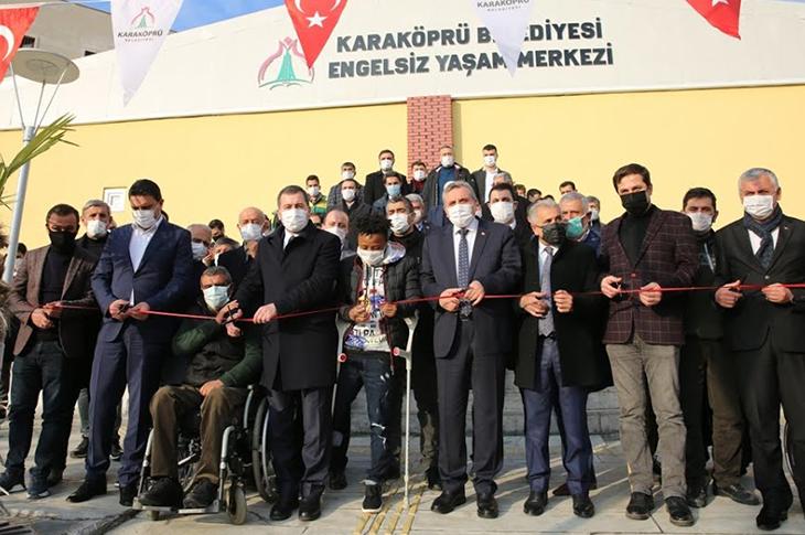 Karaköprü'de Engelsiz Yaşam Merkezi Hizmete Açıldı