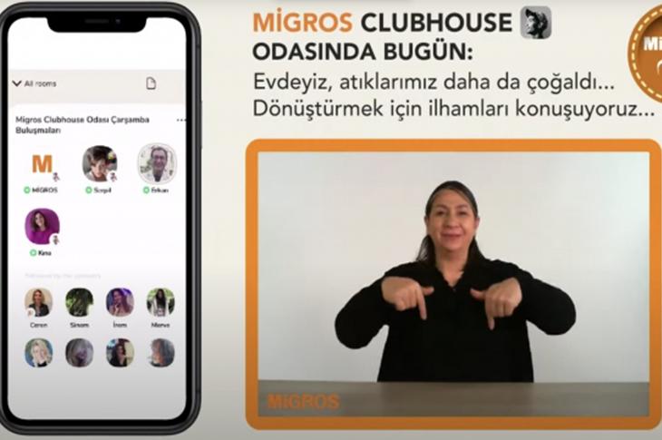 Migros Clubhouse'u İşitme Engelli Müşterilerinin Kullanımına Açtı