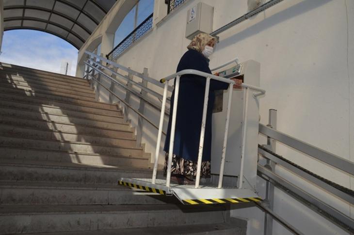 Kırıkkale'de Zarar Verilen Engelli Asansörü Onarıldı