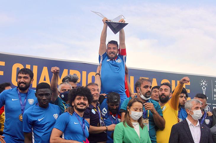 Ampute Futbol Şampiyonlar Ligi Şampiyonu Şahinbey!