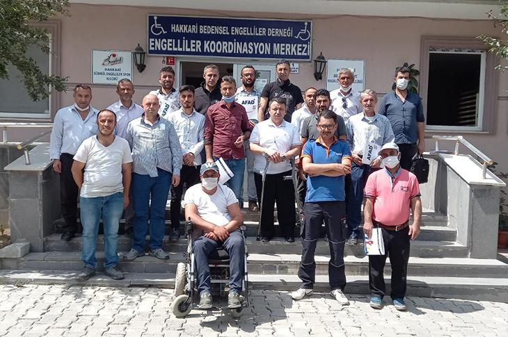 Hakkari AFAD Tarafından Engellilere Eğitim Verildi