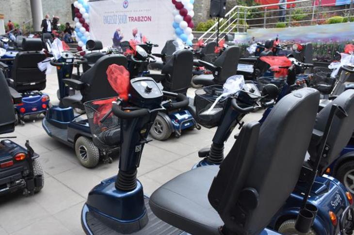 Trabzon'da 106 Adet Engelli Araç Dağıtıldı