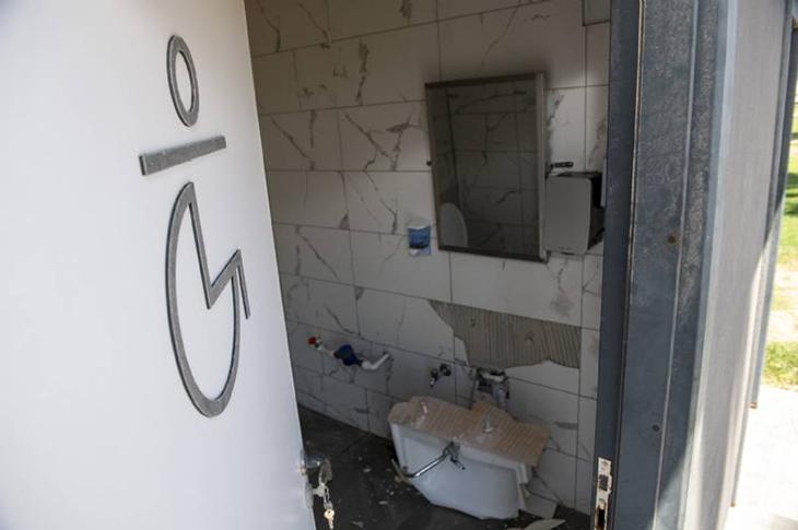 Mersin'de Saldırganların Yeni Hedefi Engelli Tuvaleti Oldu
