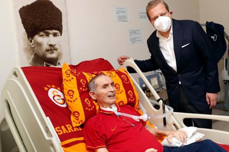 Galatasaray Başkanı Burak Elmas'tan İlyas Tüfekçi'ye Ziyaret