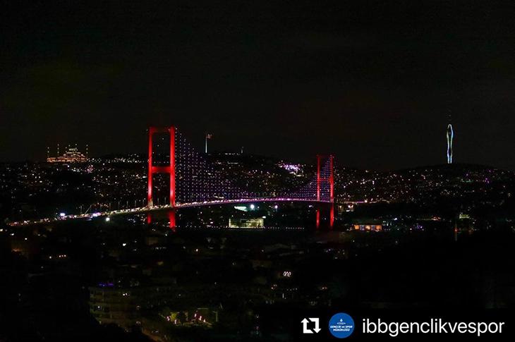 Engelli Ayrımcılığına Karşı İstanbul Köprüleri Mor Renkli Oldu