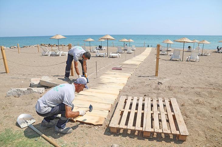 Mersin'de Soli Pompeipolis Parkı'na Deniz Rampası Yapıldı