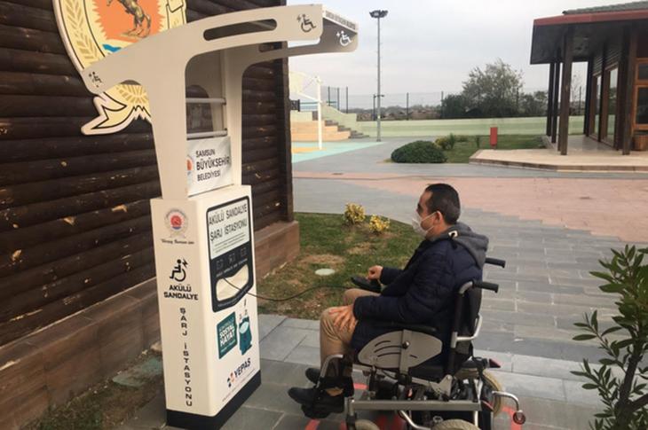 Samsun'da Engellilere 9 Şarj İstasyonu Kuruldu