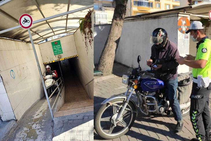 Engelli Rampasını Kullanan Motorsiklet Sürücülerine Ceza