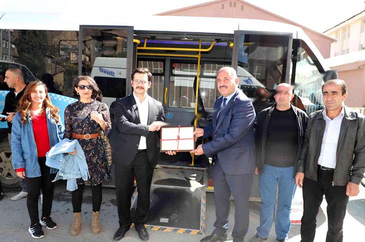 Hakkari'de Toplu Taşıma Araçlarına Erişilebilirlik Belgesi Verildi